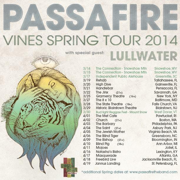 Passafire Vines Spring Tour Dates